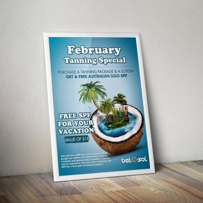Advertisement Poster Bel O Sol Tanning 1