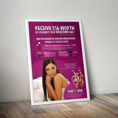 Advertisement Poster Bel O Sol Tanning 2