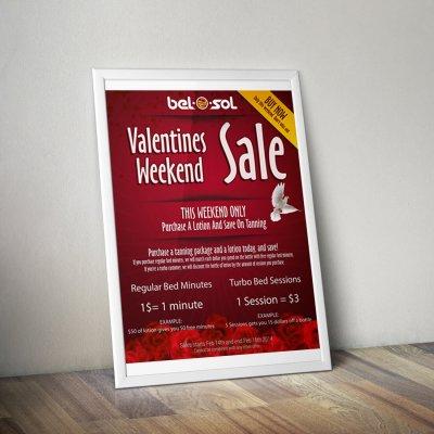 Advertisement Poster Bel O Sol Tanning 4