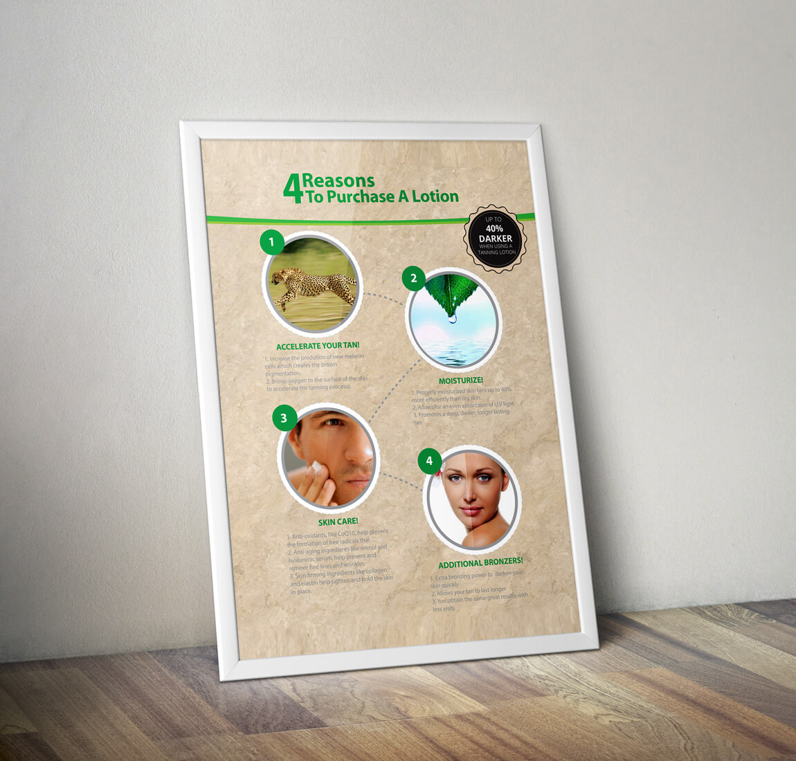 Advertisement Poster Bel O Sol Tanning 5