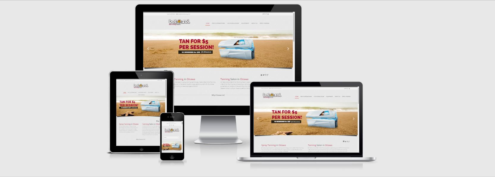 Website Design www.belosoltanning.com2