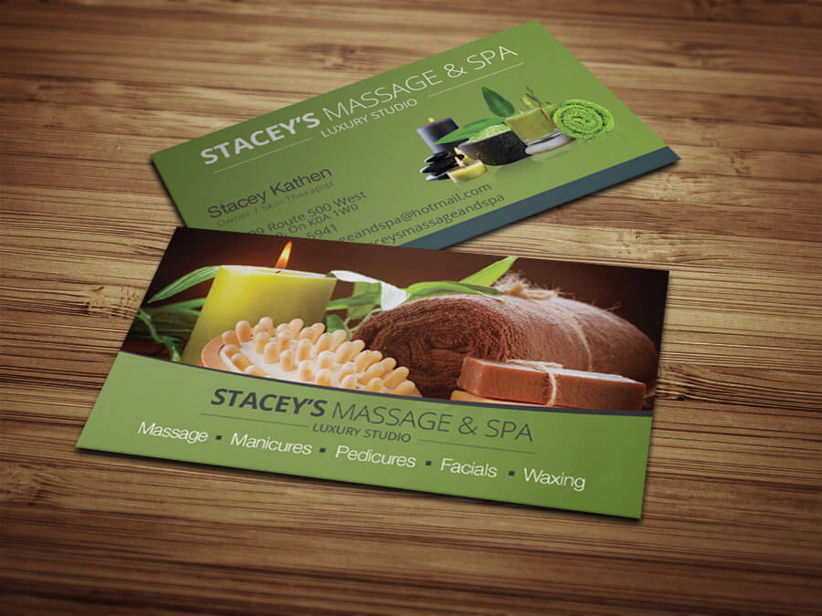 Business Cards Staceys Massage