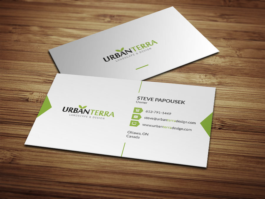 Business card design urban terra design designful web business card design urban terra design reheart Choice Image