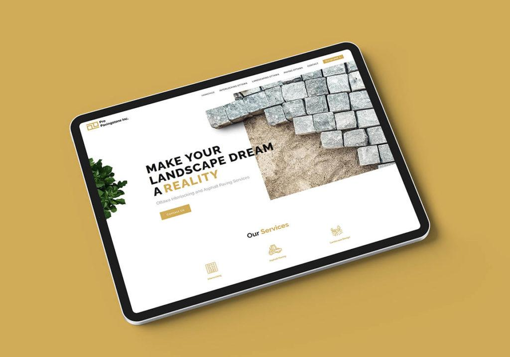 Pro PavingStone - Website-Design
